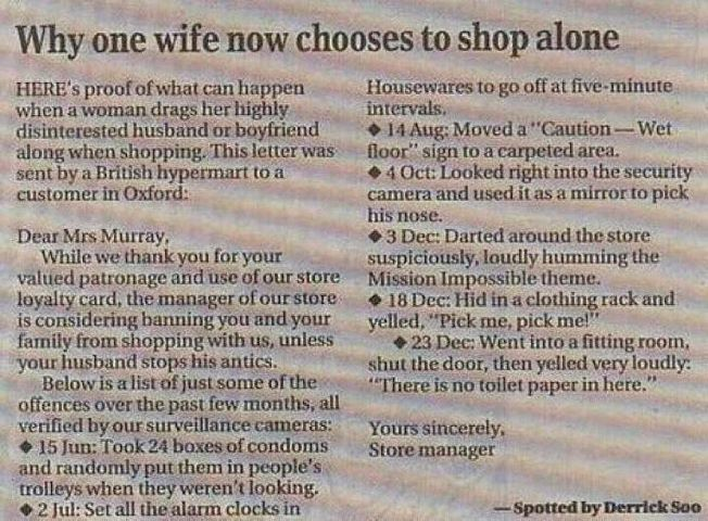 Passive aggresive husband