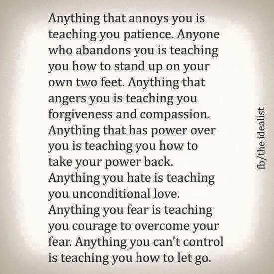 Anything that you fear teaches you